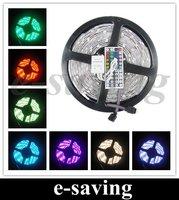 5050 150 5M RGB LED Strip SMD 30led/m outdoor waterproof + 44key IR remote controller ribbon