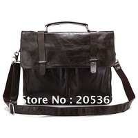 Brand New Real Vintage Cow Leather Men's Briefcase Laptop Bag Handbag Messenger bag #6057J Hot Selling