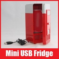 Mini USB Fridge Freezer USB Cooler and Warmer USB Gadget Refrigerator for Coke Drinks Drinking Free Shipping 1111 111