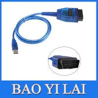 Newest Blue VAG COM VCDS vagcom 409 USB port Cable OBDII OBD II OBD2 Auto Automotive Car code scanner Diagnostic tool tools