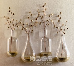 New Style, Hanging Wall Vase, Glass Vases, High Qulity Blowing Glass, 4pcs/set, Wedding Decoration, Home Decoration,Freeshipping(China (Mainland))
