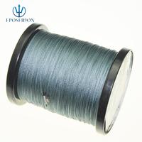 No.1 Quality&Service 4 Strand Grey Color 1000M Japan Multifilament Super Strong 100% PE Braid Fishing Line 12LB