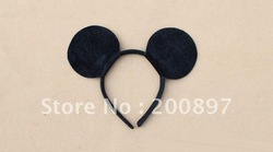 Free shipping 20 pcs a lot Kids Mickey mouse ears costume birthday party headband(China (Mainland))