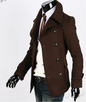 spring autumn winter 2013 / fashion/men's clothing/leisure coat/jacket /Winter/fall/coat/Black/coffee /