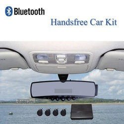 Free Shipping!!Hands-free Bluetooth Car Rearview Mirror Monitor IR Camera Kit FM+Parking Sensor(China (Mainland))