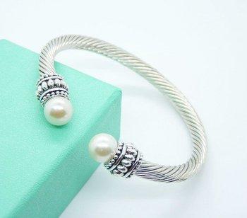 Bracelet,free shipping,Mixed wholesale,Bangle fashion / 2012 new items / pearl bangle,925 silver bangle / Girl friend ,SB14