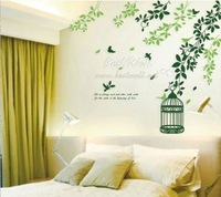 Free shipping wall sticker,home decoration,living room sticker,10pcs mixed,60*90CM cage stickers,XY1001