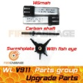 V911 parts  2pcs 145mah batteries +  Fish Eye Swashplate + Carbon main shaft for WL V911 for wholesale -- Firecabbage