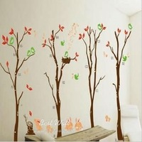 Free shipping wall sticker,home decoration,living room sticker,happy trees,rabbit,50*70CM,XY8026