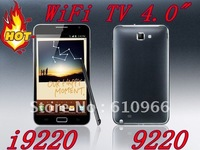 NEW i9220 TV WiFi 4.0 Inch Touch Screen Quad Band mobile Phone Dual SIM Card Global
