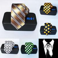 Mens Skinny Ties For Men Striped Tie Polka Dots Groom Wedding Casual Party Neckties Gravatas 6CM P6-SET