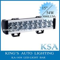 free shipping!!15'' ,12V/24V  54W LED light bar for mine, trucks/offroad/heavy duty vehicles , off-road led light bar