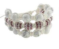 Fashion Shamballa Bracelet, 3-strand design, 10mm