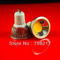 Hot Sale!! Free Shipping  6W GU10 COB 580lm LED Spotlight , AC85-265V, CE & RoHS, 6pcs/Lot