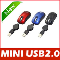 Mini Retractable USB Optical Scroll Mouse for Laptop