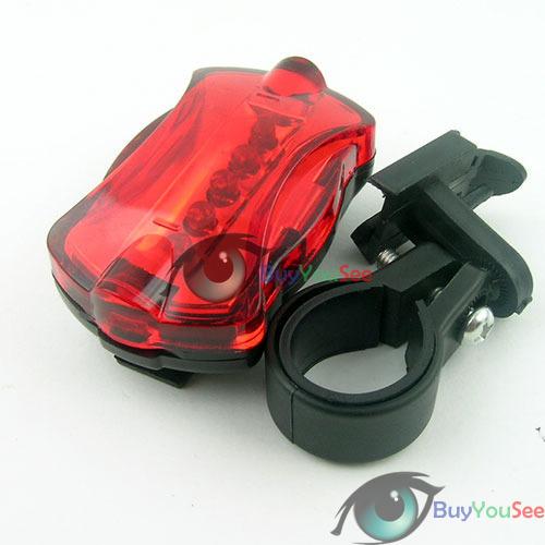 5 LED 6 Mode Tail Rear Safety Warning Flashing Bike Bicycle Flashlight Light Lamp 01(China (Mainland))