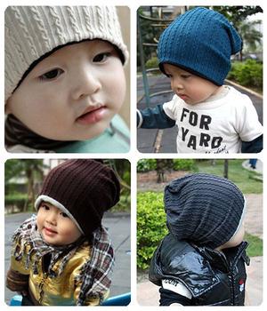 wholesale 10pcs/lot thread kids hats infant cap Cotton Beanie children baby Hat
