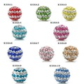 Christmas Wholesale Shamballa Beads 10mm AB Clay Circle Crystal Shamballa Balls Mix Option KSHAmix1