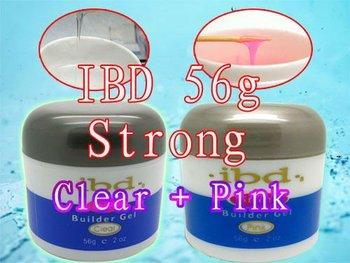 Special Offer! ! 2X  2015 New Original 56 g / 2 oz Strong  IBD UV Builder Gel Nail Art Tips Clear + Pink 2 PCS
