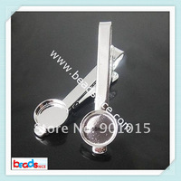 DIY Tie Clip Kit - w/16mm Bezel Setting, Length:54mm, Nickel-Free, Lead-Safe,  ID 23034