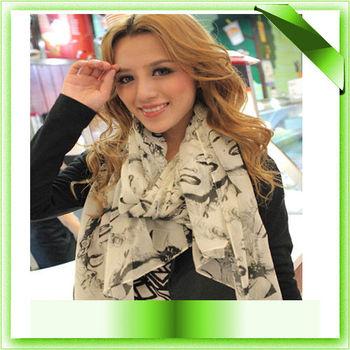 2013 Women Silk Chiffon Marilyn Monroe Scarf Shawl Free Shipping