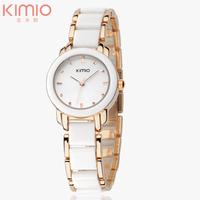 Brand Eyki Kimio 2014 Ladies Ceramic Luxury Bracelet Watches with Ceramic Fine Steel Strap Dress Watch