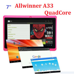 Factory! 7 inch android 4.0 AllWinner A13 512MB 4GB/8GB Dual camera WIFI tablet pc Q88 6COLORS(China (Mainland))