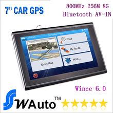 7 inch car  GPS Navigation car  navigator  bluetooth AV-IN MTK 800MHz 256M 8G Systhem navegacion navegante new GPS maps(China (Mainland))