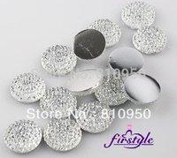 (white color)DIY Jewelry Garment / Phone Case Accessories  10mm Round Resin Rhinestones,Flatback Rhinestones 200pcs/lot