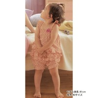 Girl suit/ Baby suit: sun-top + lovely shorts/ Pink suit with white dot and bow