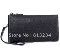 "Promotion Free Dropshipping New Brand""BKSS"" High Quality Men Wallets Genuine Leather Handbags Clutch Purse For Gift 25#"