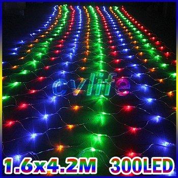 celebration wedding ceremony fairy lighting Christmas xmas multicolor Led string net light 300 Leds  web lights