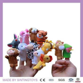 Twelve Chinese Zodiac mouse,cattle,tiger,rabbit,dragon,snake,horse,sheep,monkey,cock,dog, pig Plush anima finger puppet toy