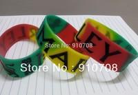 "2014 new design BOB MARLEY silicone  bracelet  silione wristband  1"" Wide band   free shipping 100pcs/lot bracelet factory"