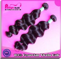 DHL free shipping & 3pcs/lot  peruvian weave hair : peruvian virgin hair / 100% human hair natural wave hair extensions