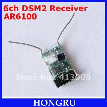 100pcs/lot Compatible AR6100 2.4GHz 6CH RC Receiver for JR DSX7/DSX9/DSX11/DSX12, DX6i/DX7/DX8