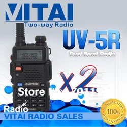 Save Money ! 1 Lot 2 Sets Baofeng Dual band UV-5R VHF&UHF Walkie Talkie with Free Earphone + Fast Delivery Cheapest(China (Mainland))