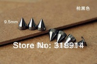 50pcs 7*9.5mm Gun-Black Metal Bullet Stud Punk Rock Spike DIY Rivet for Fashion Accessory Free Shipping