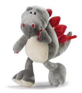 Fashion Grey Color Plush Ice Age Dinosaur Tyson Doll for Baby