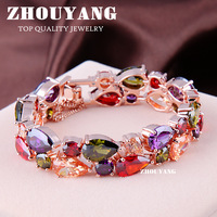 ZYH003 Luxurious Crystals Bracelet 18K Gold Plated Fashion Jewelry Made with Genuine SWA Elements Austrian Crystal Wholesale