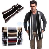 2014 New Men's Winter Fashion Striped Knitting Wool Scarf Men Tassels Scarf Cashmere Long Pashmina Shawl Drop shipping 80362