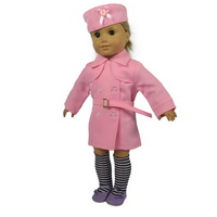 "Free shipping!! Doll Clothes dustcoat  fits for 18"" American Girl Dolls,girl birthday gift,with Hat,socks &belt,  A01"