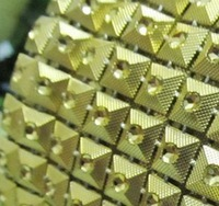 free shipment,gold plastic pyramid stud trimming,plastic rhinestone banding,10yards/lot,7mm rivet stud,stage garment patch