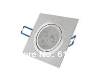 5pcs/lot Free shipping 3x1w 3x2w 3x3w LED downlight Square led ceiling lamp Pure/Warm White