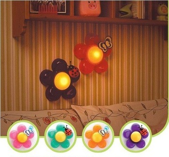 FREE SHIPPING 5pcs/Lot Flower Light Night Light/Lamp Table Wall Light Creative- Flowers #1028