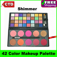G42 42 color Shimmer Eyeshadow & Blusher Makeup Palette Cosmetic Set (32 color eyeshadow,10 color blush)