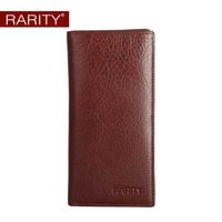 Free shipping Brand Rarity Genuine leather Men's Extra Capacity Wallet long purse money clip  Brown WRC0026
