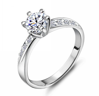 MSF brand JZ013 best selling 925 sterling silver & platinum plated & zircon crystal anti-allergy ladies`wedding rings jewelry