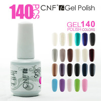 140 Colors 140PCS/Lot  CNF gelpolish UV Gel Soak Off Nail Polish Free Shipping(120 Color Gel+10 Base+10Top) Shellac