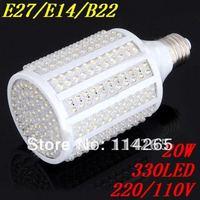 B22 /E27/E14 LED Corn light E27 220V/110v 5W 7W 10W 12W 15W 20W energy saving 78 108 166 216 263 330 LED Lamp free shipping